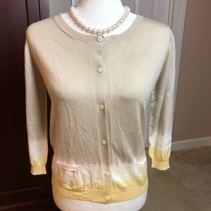 PRADA Dip Dyed Cotton/Silk Cardigan Sweater Sz 10